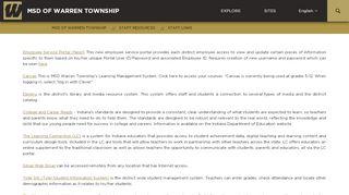 Warren Township Employee Portal