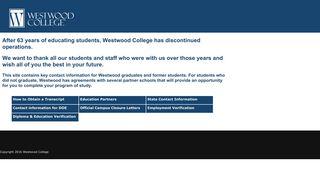 Wconnect Westwood Edu Student Portal