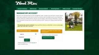 Weedman Customer Portal