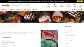 Weis Markets Employee Portal