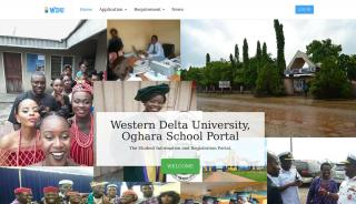 Western Delta University Portal