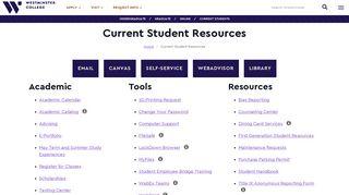 Westminster Student Portal