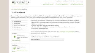 Windsor At Arbors Resident Portal