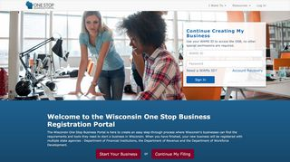 Wisconsin One Stop Business Portal