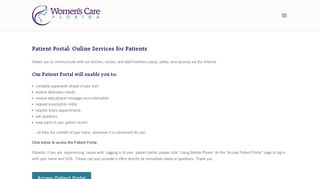 Women's Care Florida Patient Portal