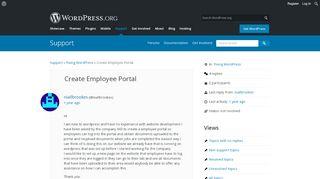 WordPress Employee Portal