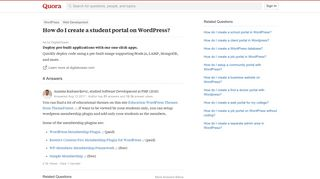 WordPress Student Portal