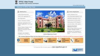 Www Rpsc Web Portal