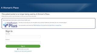A Woman's Place Patient Portal