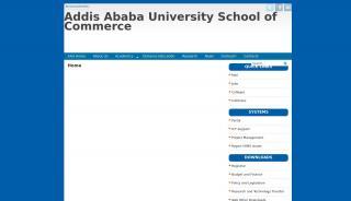 Addis Ababa University School Of Commerce Portal