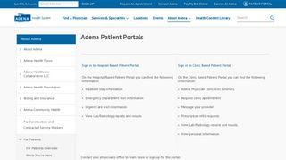 Adena Patient Portal