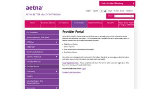 Aetna Better Health Of Virginia Provider Portal