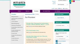 Alameda Alliance Provider Portal