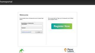 Alfreton Leisure Centre Home Portal