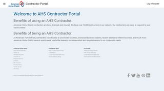 American Home Shield Contractor Portal
