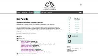 Arizona Institute Of Medicine And Pediatrics Patient Portal