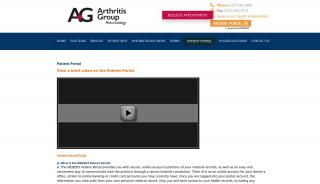 Arthritis Group Patient Portal