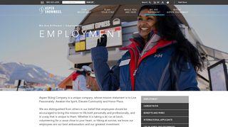Aspen Snowmass Employee Portal