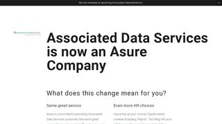 Associated Data Employee Portal