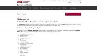 Asu Supplier Registration Portal