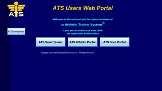 Athletic Trainer System Core Portal