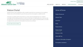 Atlanta Cancer Care Patient Portal