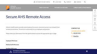 Atlantic Health Employee Portal