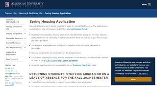 Au Housing Portal