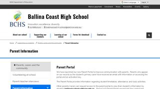 Ballina Coast High School Parent Portal