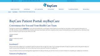 Baycare Online Portal