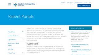 Baylor Scott White Patient Portal