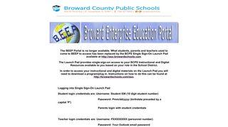 Beep Browardschools Com Student Portal