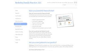 Berkeley Family Practice Patient Portal