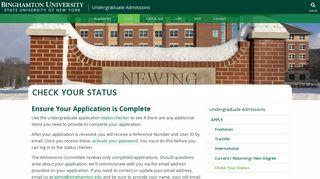 Binghamton Admissions Portal