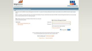 Bma Contractor Portal
