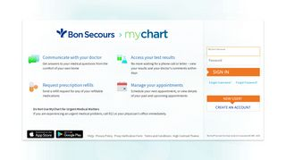 Bon Secours Patient Portal