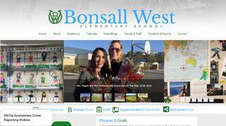 Bonsall West Elementary School Portal