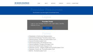 Boon Chapman Provider Portal