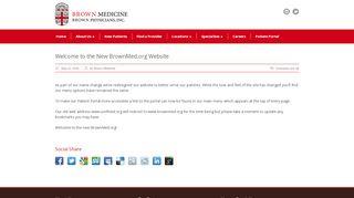 Brown University Medicine Portal