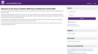 Cancer Notification Portal