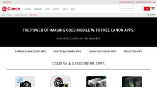Canon Mobile Portal