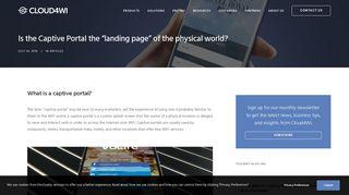 Captive Portal Landing Page