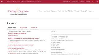 Cardinal Newman Parent Portal