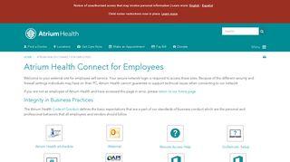 Carolinas Medical Center Employee Portal