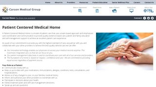 Carson Medical Group Patient Portal
