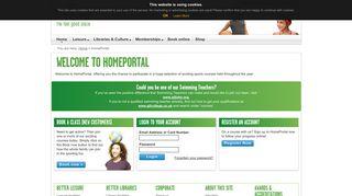 Carterton Leisure Centre Home Portal