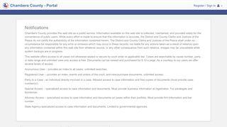 Chambers County Portal