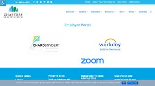Chapters Health System Employee Portal