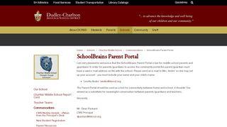 Charlton School Parent Portal
