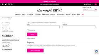Charming Charlie Employee Portal